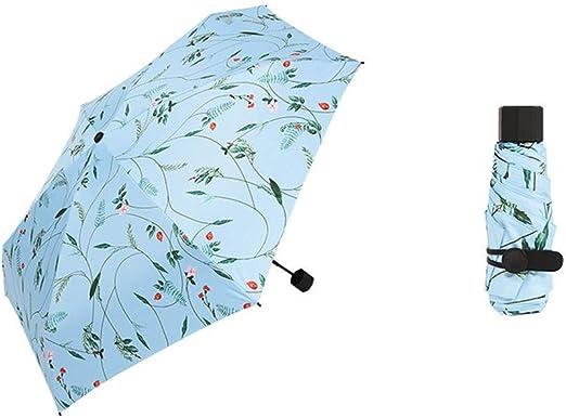 Paraguas Plegable Ligero Apertura Y Cierre Manual. 6 Huesos. Resistente Al Viento. Corte UV Resistente Al Viento. Para Estaciones Tanto De Sol Como De Lluvia. Medidas Para La Temporada De Lluvias. Fác: