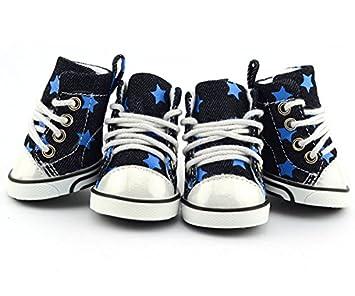 Pet Dog Boot Sneakers Tennis Shoes Denim Stars Converse 00019147d