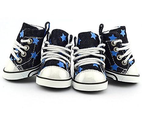 6dddb536c Perro de mascota de arranque Zapatos de tenis zapatillas Denim Estrellas  Converse