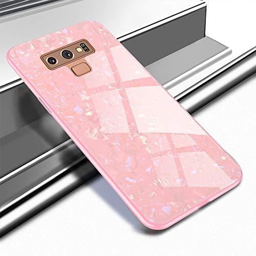 EYZUTAK Shell Design Case for Samsung Galaxy Note 9,Ultra Thin Tempered Glass Back Mimics Hard Cover Anti-Scratch Soft TPU Silicone Bumper Shockproof Case for Samsung Galaxy Note 9 - ()