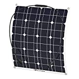 ALLPOWERS 18V 12V 50W Solar Panel Charger Waterproof for 12V Battery, RV, Camping, Caravan, Motorhome, Boat, Tent