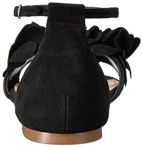 Suede Plana Mujer Sandalia para GamuzaBlack Negro Dorthy Madden Steve wZq84v