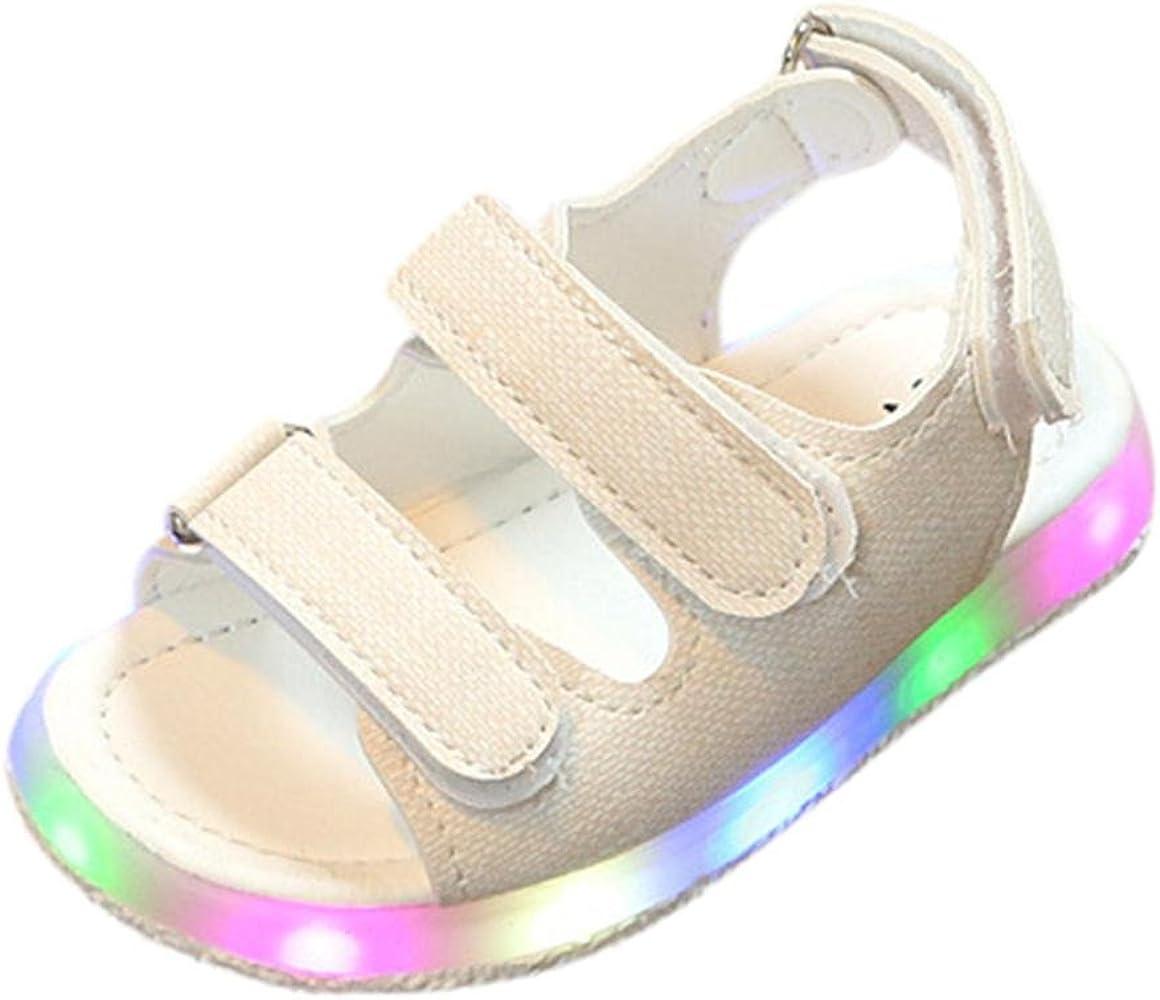 Bebé verano sandalias tablero zapatillas con LED luces, Yannerr ...