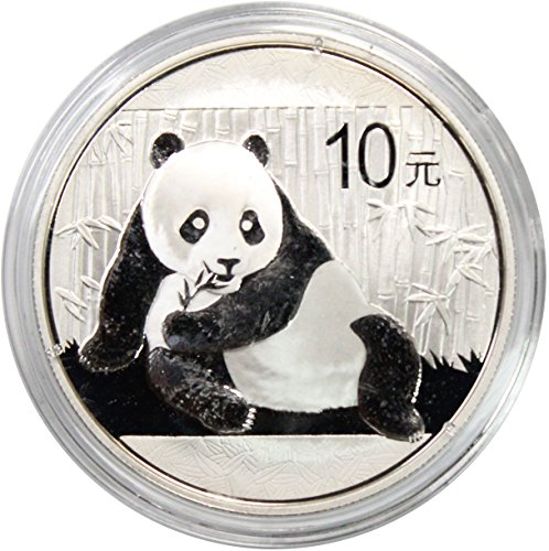 (2015 CN Chinese Silver panda 10Yn Brilliant Uncirculated in Capsule)