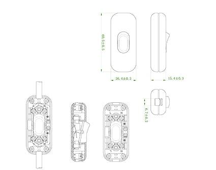 Knightsbridge 6a Dp Inline Cord Switch White Amazon Co Uk Diy Tools