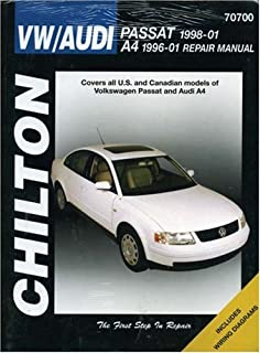Audi a4 b5 service manual 1996 1997 1998 1999 2000 2001 vw passat 1998 2001 audi a4 1996 2001 chiltons total car care fandeluxe Image collections