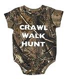 Crawl Walk Hunt Realtree Camo Baby Onesie - Hunting Baby Clothing (6 Month)