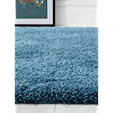 Cornflower Blue Fluffy Shagg Rug - Perfect for Living Rooms and Bedrooms - 160cm x 230cm