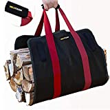 YCRD Firewood Storage Bag, Portable Canvas Logging Package, Firewood Finishing Bag Fireplace Accessories Firewood Basket