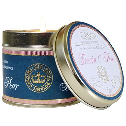 Freesia Scented Shampoo - Kew Gardens Pear & Freesia Scented Tin Candle