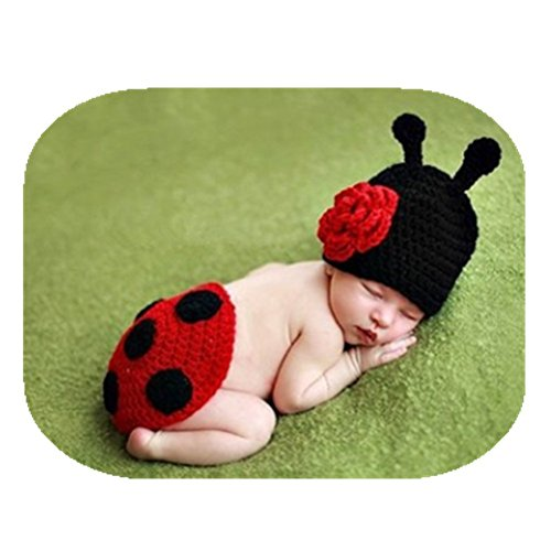 Fashion Newborn Baby Photography Props Boy Girls Photo Shoot Props Outfits Crochet Knitted Costume Unisex Cute Infant Hat Pants Set ()