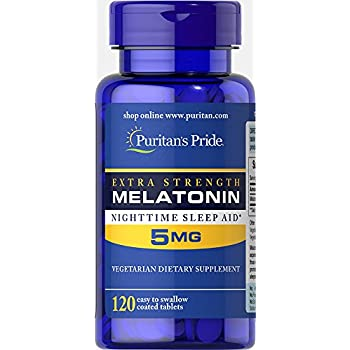 Puritans Pride Extra Strength Melatonin 5 mg-120 Tablets