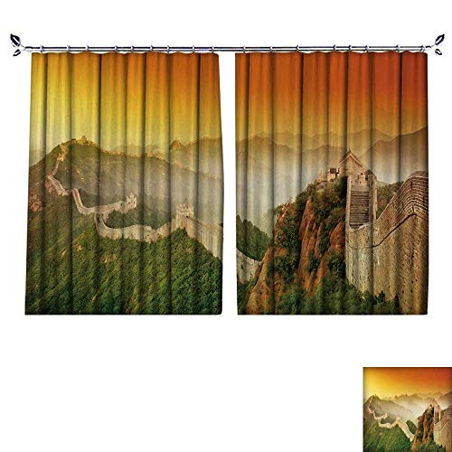 (DESPKON The Shade Block Ultraviolet Great Wall of China at Sunrise for Bedroom, Living Room, for Shade. W84 x L108)