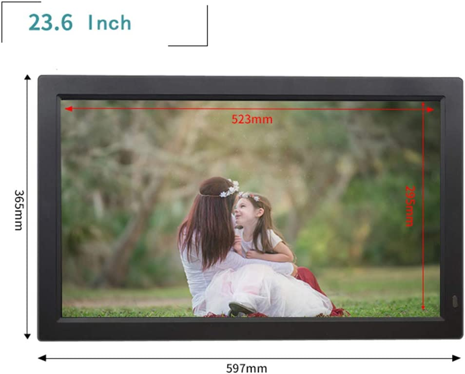 Tempered Glass Version of Electronic Photo Frame 12 13 14 15 19 22-inch Ultra-Thin high-Definition Digital Photo Frame high-Definition Screen Ultra-Thin Body