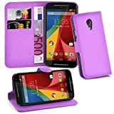Cadorabo Case works with Lenovo (Motorola) MOTO G2 Book Case in PASTEL PURPLE – with Magnetic Closure, Stand Function and Card Slot – Wallet Case Etui Cover Flip