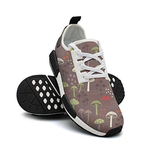 Womens Vegan Mushrooms Sneakers Casual Running Shoes -