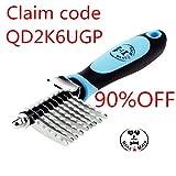#2: Bencmate Pet Safe Dematting Comb Grooming Rake Brush Tool Undercoat Dogs Cats Long Matted Hair