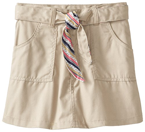 (2930) Genuine Uniforms Girls Skort Skirt with Reversible Striped Belt (Sizes 4-16) in Khaki Size: 10