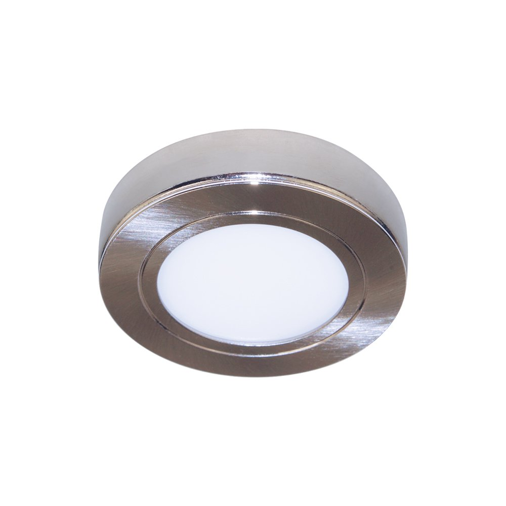 Armacost Lighting 223211 Dimmable LED Puck Light, Brushed Steel