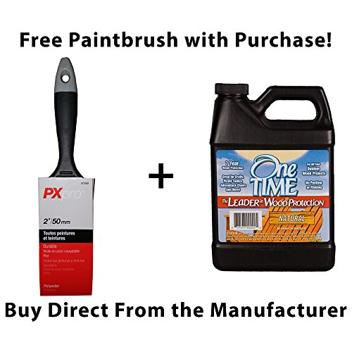 One TIME Natural Wood Stain & Sealer Quart Size