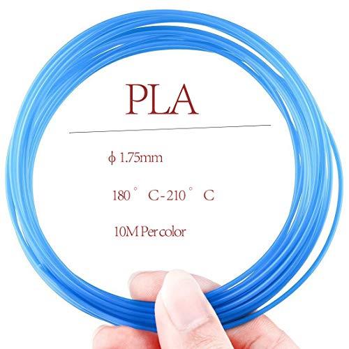 Filamento PLA 3D para rotuladores, 1,75 mm, 10 m, 20 colores ...