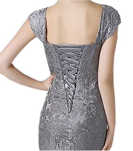 c02699fd567 Home Color Silver Women s Sexy Lace Mother of The Bride Evening Dress with  Jacket Silver US18W.   