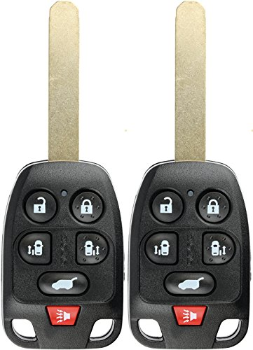 Honda Odyssey Uncut Key - KeylessOption Keyless Entry Remote Fob Uncut Chip Ignition Car Key Replacement for Honda Odyssey N5F-A04TAA (Pack of 2)