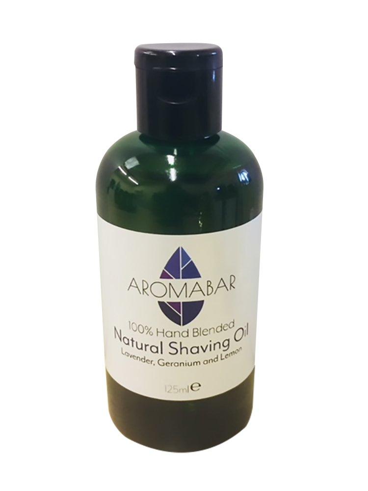 Aromabar Natural Shaving Oil 125ml Lavender, Geranium & Lemon Unisex