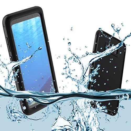 Samsung Galaxy S8 Waterproof Case, Yuqoka Underwater Full Body Shockproof SnowProof DirtProof Case with Fingerprint Recognition Touch ID for Samsung Galaxy S8 - Black