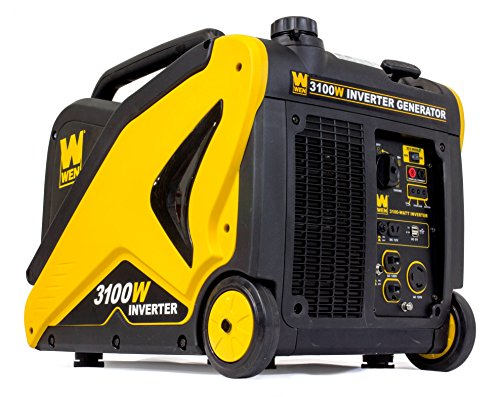 WEN 56310i CARB Compliant Inverter Generator with Built-in Wheels and Handle, 3100W made our list of best quiet generators for camping and best small generators for camping