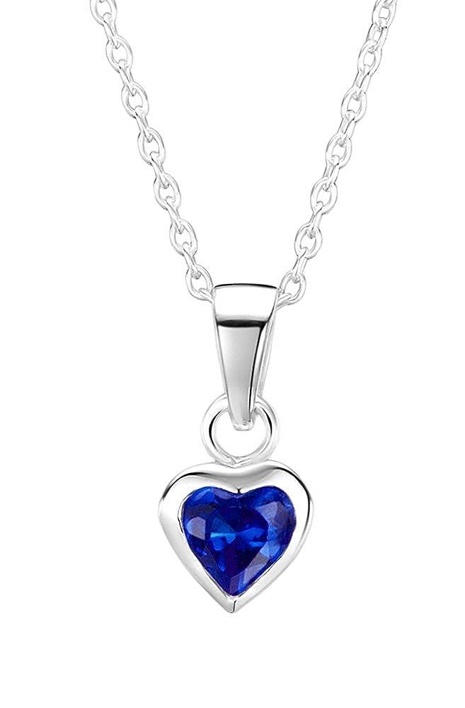 Jo for Girls Kinder-Anhänger 925 Silber Zirkonia Blau 35.5 cm - CP160sa