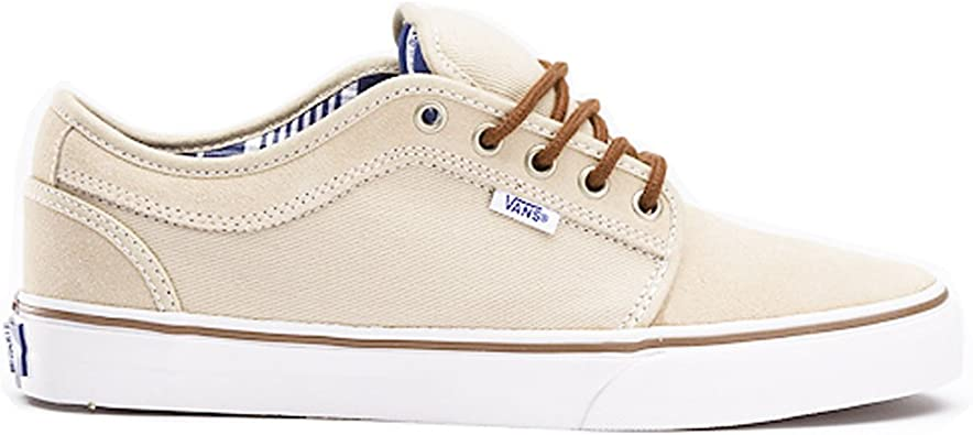 Amazon.com   Vans Chukka Low Mens Size 7.5 Shoe TAN & White ...
