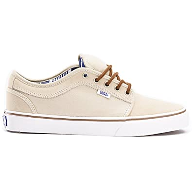 VANS CHUKKA LOW Mens Size 7.5 Shoe TAN & WHITE Trainer