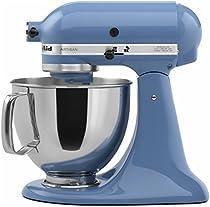 KitchenAid KSM150PSCO Artisan Series 5-Qt. Stand Mixer with Pouring Shield - Cornflower Blue