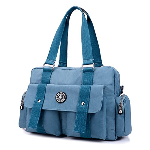 MeCooler Fashion Handbag Messenger Bag Women Cross Body Bag Waterproof Shoulder Bag for Ladies Satchel Lightweight Bookbags Blue 4