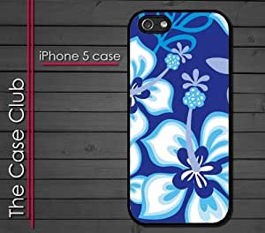 iPhone 5s for you (New Color Model) Rubber Silicone Case - Hibiscus Flowers Blue Pattern Hawaii Tropical Flowers