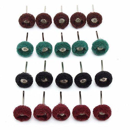20pcs 25mm Abrasive Wheel Grinding Buffing Polishing Wheel Set For Rotary Tool by BephaMart