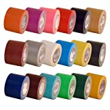 "TapeBrothers Craft duct tape 18 color rainbow pack 1.88"" x 10 yds on 1.5"" cores"
