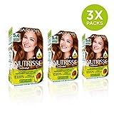 Garnier Nutrisse Permanent Hair Dye, 5.4 Copper Brown, Pack of 3