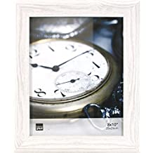 Kiera Grace Gable Picture Frame, 8 by 10-Inch, Vintage White Look Textured Finish