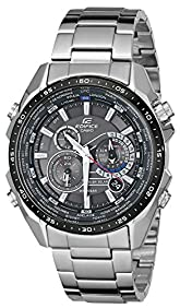 Casio Men's EQS500DB-1A1 Edifice Tough Solar Stainless Steel Multi-Function Watch with Link Bracelet