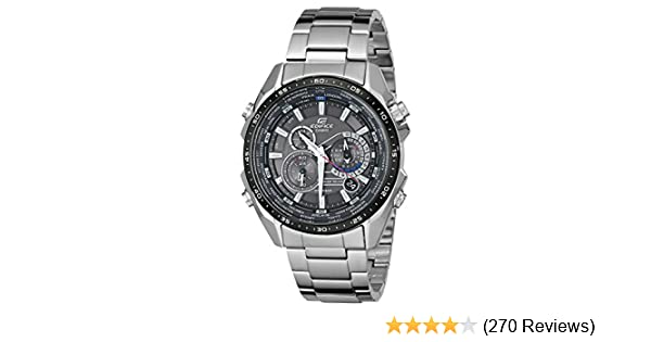 fce4c66e48c Amazon.com  Casio Men s EQS500DB-1A1 Edifice Tough Solar Stainless Steel  Multi-Function Watch with Link Bracelet  Casio  Watches