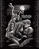 DGA Ride or Die Motorcycle Biker Lovers Queen Size Luxury Royal Plush Blanket