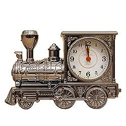 Lopkey Antique Locomotive Alarm Clock/fashion Home Creative Train Alarm Clock