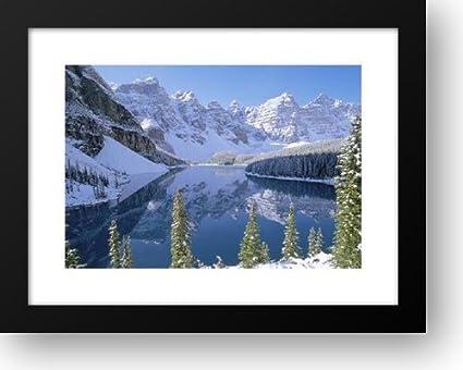 Amazon Com Moraine Lake In Winter Alberta Canada 24x19