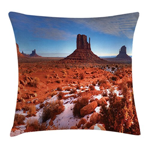 House Decor Throw Pillow Cushion Cover By Ambesonne  Long Exposure Photo Of Grand Canyon American Landmark Tranquil Native Lands  Decorative Square Accent Pillow Case  24 X 24 Inches  Orange Blue