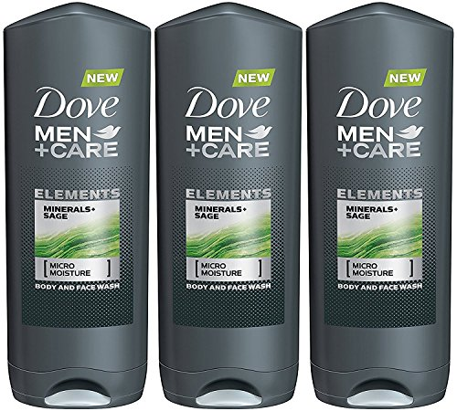 Dove Men + Care Elements Body Wash, Minerals and Sage, 13.5 Ounce (Pack of 3)