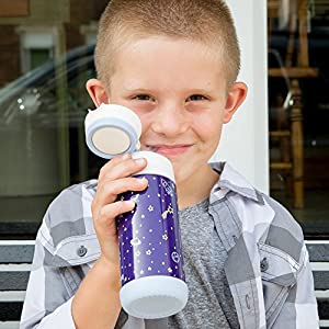 Snug Flask for Kids - Vacuum Insulated Water Bottle with Straw (Space)