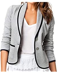 Kaluo Women Casual Slim Fit Short Blazer Jackets Button Coat
