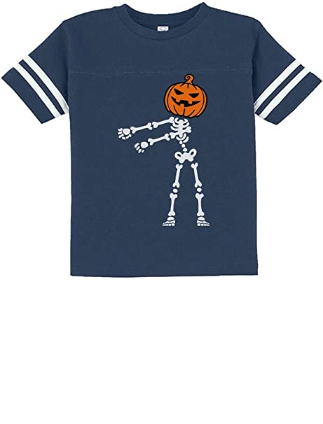 Floss Dance Jack O Lantern Pumpkin Halloween Skeleton Toddler Jersey T-Shirt 2T Blue